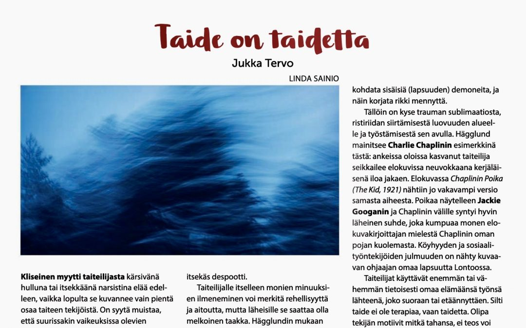 Taide on taidetta